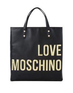 b3faa8dcf092 Handbag Woman LOVE MOSCHINO Gold Logo