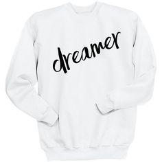 Dreamer Sweatshirt 5sos 5 Seconds of Summer Sweater One Direction... (170 HRK) ❤ liked on Polyvore featuring tops, hoodies, sweatshirts, black, women's clothing, crewneck sweatshirt, faded shirt, crew shirt, roll up shirt and crew neck sweatshirts