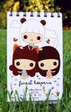 Forest Keepers Calendario 2014 Edición Limitada solo 20 unidades!! Firmados y numerados a mano Tamaño: 10 x 16 cm Incluye 12 ilustraciones originales // Por consultas escribir a info(at)lulibunny.com