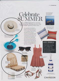 Celebrate summer and create your own chic ''urban island' with our Castaway straw hat and beach chair in this months Vogue