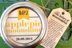 Moonshine Wedding Favor Labels & Tags by Snow in July Designs