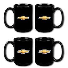 Chevrolet Ceramic Mug Set of 4 - ChevyMall