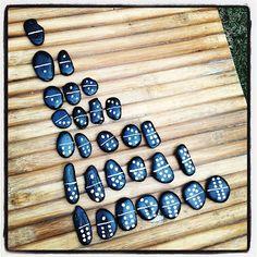 Full Set of Rock Dominos. Go Ashley!: Upcycled Kids Projects Full Set of Rock Dominos. Go Ashley!: Upcycled Kids Projects Source by throughelis Diy Projects To Sell, Diy Crafts To Sell, Craft Projects, Upcycling Projects For Kids, Upcycled Crafts, Stone Crafts, Rock Crafts, Arts And Crafts, Stone Art Painting
