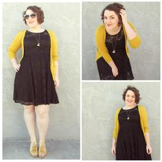 "aprettycatastrophe: "" Black and yellow. This is one of my favorite outfits ever. It used to be the only ""dress up"" outfit I had in the days before I started routinely buying things other than band tee..."