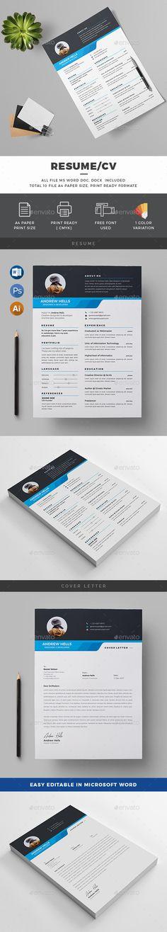 Quick Resume Template Resume Cv  Resume Cv Cv Template And Ai Illustrator