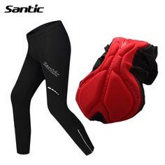 Santic Men Cycling Hiking Pants Winter Thermal Windproof Long Pants no Padded