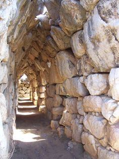 Tiryns is the usual setting for the initial setting in Bellerophon's myth. It's also a friggin' sweet example of ancient mycenaean architecture. Dig those corbeled arches.