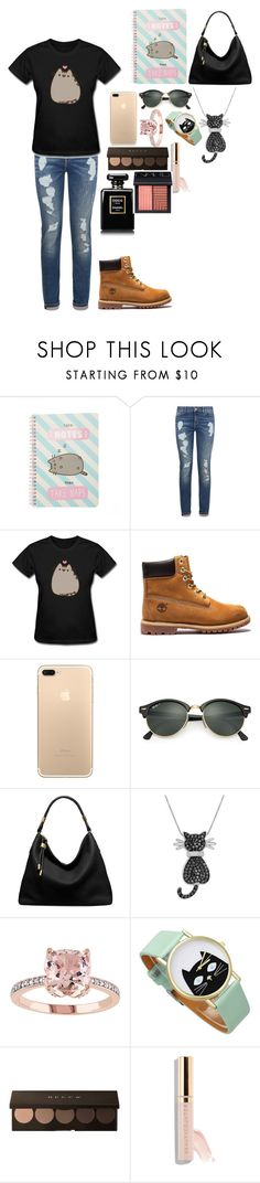 """Pusheen cat"" by rowanstella ❤ liked on Polyvore featuring Pusheen, Tommy Hilfiger, Ray-Ban, Michael Kors, Amanda Rose Collection, Beautycounter and NARS Cosmetics"