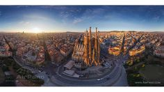 The east side of Sargrada Familia in Barcelona, Spain is seen here. (AirPano)