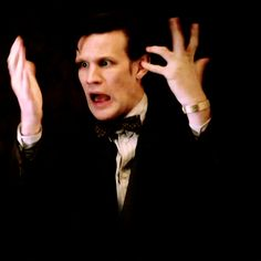 Eleven being Eleven (gif) I will miss him so much. There will never be another Doctor like him.