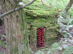 Installation de Nils-Udo dans la forêt de Wattwiller