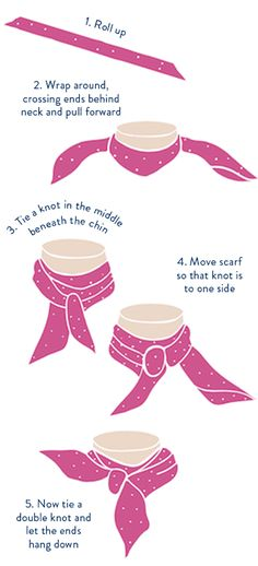 scarf knot how to french twist