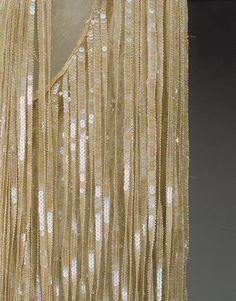 Evening dress (detail) | Edward Molyneux (French (born England), London 1891–1974 Monte Carlo) | 1926–27 | French | silk | length at cb: 30 in. (76.2 cm)