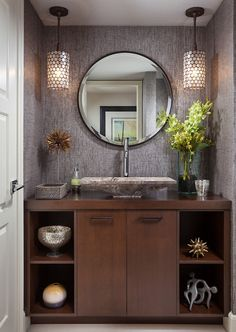 like the walls for powder bath remodel - Guest Bathroom Design