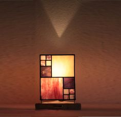 "Our stained glass tiffany style table lamp: ""Cuddly Quader"" www.mana-glaskunst.de"