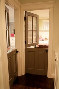 Interior Dutch doors. Nursery and pre-K