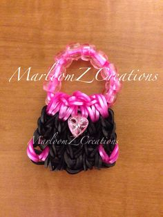 Mini Fashion Purse, Designed and loomed by Marlene Barressii. (Rainbow Loom)