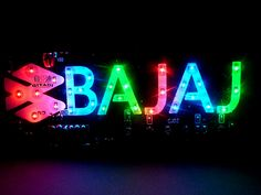 Modified motorcycle accessories decoration lamp motorcycle brake lights bajaj letter lamp colorful lights led lighting $16.55