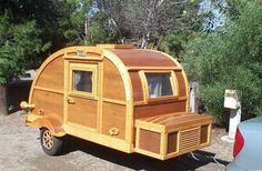 Customized teardrop campers are where it is at! vintage inspired