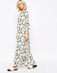 Just Female Maxi Dress In Collage Print