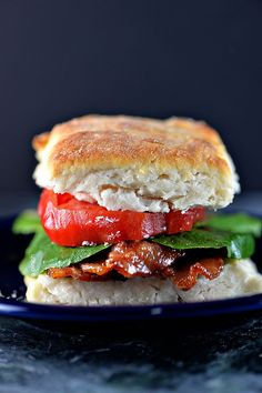 Biscuit BLT Sandwich from addapinch.com