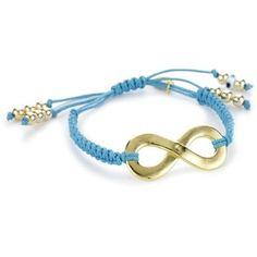Blee Inara Turquoise Color Infinity Macramé Adjustable Bracelet