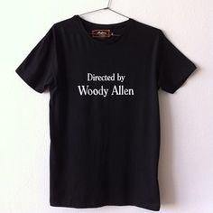 Image of WOODY ALLEN BLACK TEE