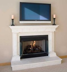 Cast Stone Fireplace Mantels | Pre-cast Surrounds | Faux ...