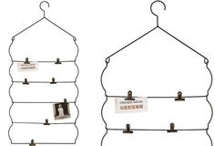 Metal Photo Rack With Clips - From Antiquefarmhouse.com - http://www.antiquefarmhouse.com/current-sale-events/country7/photo-wall-rack2.html