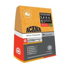 Acana Wild Prairie Feast Dry Cat Food. Available in .88 lb., 5.5 lb., and 15.4 lb. bags. Save 10% with the coupon code: PIN10.