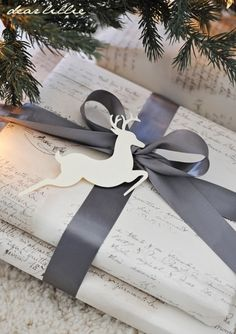A hand written wrapping gift paper