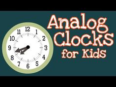 (10) Analog Clocks for Kids | How To Tell Time - YouTube Clock Learning For Kids, Clock For Kids, Teaching Math, Teaching Resources, Telling Time Activities, Math Logic Puzzles, Lesson Planner, 2nd Grade Math, To Tell