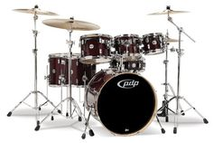Pacific Drums PDCM2217TC 7Piece Drumset with Chrome Hardware  Transparent Cherry *** Read more  at the image link.Note:It is affiliate link to Amazon. #stripes