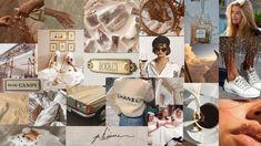 aesthetic beige laptop computer desktop macbook wallpapers collage backgrounds