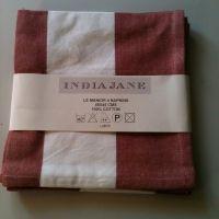 India Jane Red Stripe Napkins