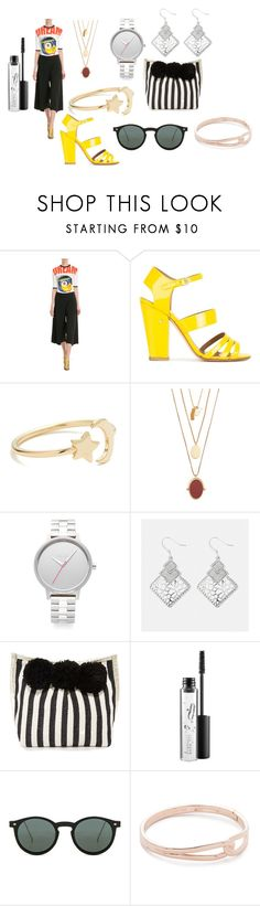 """The stack"" by emmamegan-5678 ❤ liked on Polyvore featuring Victoria, Victoria Beckham, Laurence Dacade, Ariel Gordon, Madewell, Nixon, Avenue, JADEtribe, MAC Cosmetics, Spitfire and Kate Spade"
