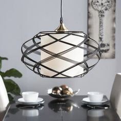 Avento Metal Wire Cage Pendant Light Cage Pendant Light, Drum Pendant, Pendant Chandelier, Globe Pendant, Pendant Lighting, Small Pendant Lights, Lighting Sale, Bronze Pendant, Vintage Chandelier
