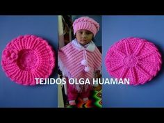Boina tejido a crochet para bebe o niña video 1 - YouTube