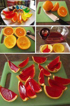 Jello orange slices