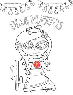 Weve Created A Coloring Page To Help You Celebrate El Dia De Los Muertos Or The Day Of Dead