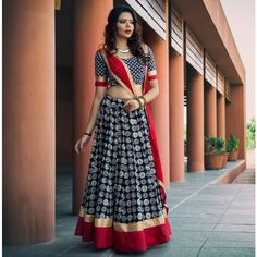 Buy Black Crepe Printed Semi Stitched Lehenga online in India at best price.Product Details Crepe Printed Black Semi Stitched Lehenga - Disclaimer : Color of the actual product