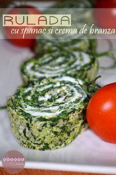 Rulada cu spanac si crema de branza - RETETE DUKAN Blood Type Diet, Dukan Diet, Cooking Recipes, Healthy Recipes, Avocado Toast, Catering, Cabbage, Food And Drink, Vegan