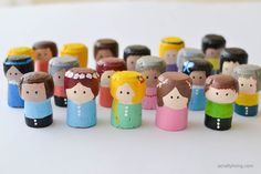 Recycled Cork People for your Doll House! www.acraftyliving.com