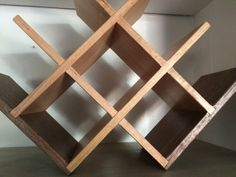 Custom criss cross wooden wine by DauphineeHandcrafted on Etsy