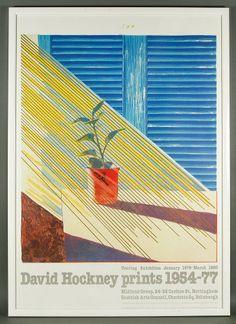 """David Hockney, """"Sun"""", print, 1954-77, England 1980, titled upper center, sunlight coming through a window,"""