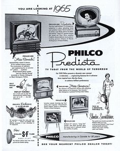 Philco Television - you're looking ahead at 1965! Uh, no you weren't...