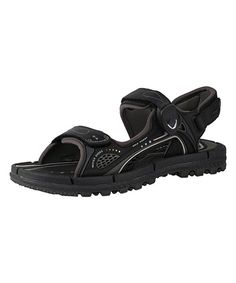 59b5583d9 Look at this Black  amp  Gray Quick-Dry Magnetic Hook Sandal - Adult on