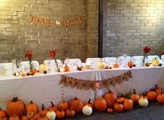 """Fall Wedding Banner, """"Fall in Love"""".  For the Head Table."""
