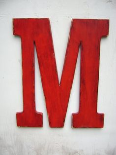 letter M wedding decor shabby chic rustic 24 by UncleJohnsCabin, $69.00
