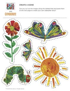 The Very Hungry Caterpillar by Eric Carle - Cut and Paste